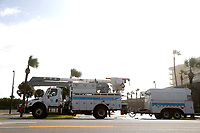 FPL crews preparing for Hurricane Dorian in Daytona, Fla. on September 3, 2019.
