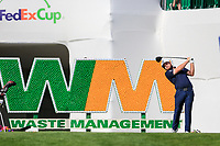 Tyrrell Hatton (ENG) on the 17th tee during the 1st round of the Waste Management Phoenix Open, TPC Scottsdale, Scottsdale, Arisona, USA. 31/01/2019.<br /> Picture Fran Caffrey / Golffile.ie<br /> <br /> All photo usage must carry mandatory copyright credit (&copy; Golffile | Fran Caffrey)