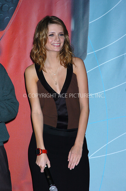 WWW.ACEPIXS.COM . . . . .  ....NEW YORK, OCTOBER 20, 2004: Mischa Barton at the Swatch and Microsoft launch of wach 'Paparazzi.' Please byline: AJ Sokalner - ACE PICTURES..... *** ***..Ace Pictures, Inc:  ..Alecsey Boldeskul (646) 267-6913 ..Philip Vaughan (646) 769-0430..e-mail: info@acepixs.com..web: http://www.acepixs.com
