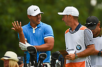 Brooks Koepka (USA) waits to tee off on 8 during Rd3 of the 2019 BMW Championship, Medinah Golf Club, Chicago, Illinois, USA. 8/17/2019.<br /> Picture Ken Murray / Golffile.ie<br /> <br /> All photo usage must carry mandatory copyright credit (© Golffile   Ken Murray)