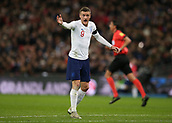 27th March 2018, Wembley Stadium, London, England; International Football Friendly, England versus Italy; Jamie Vardy of England shouting at his players to press