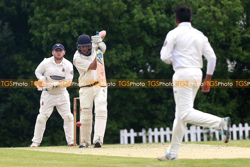 J Walton in batting action for Shenfield during Shenfield CC vs Hornchurch CC, Shepherd Neame Essex League Cricket at Chelmsford Road on 13th May 2017