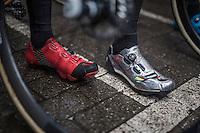 Wout Van Aert (BEL/Crelan-Willems) &amp; Tom Meeusen (BEL/Telenet-Fidea) share a shoe sponsor<br /> <br /> Krawatencross Lille 2017