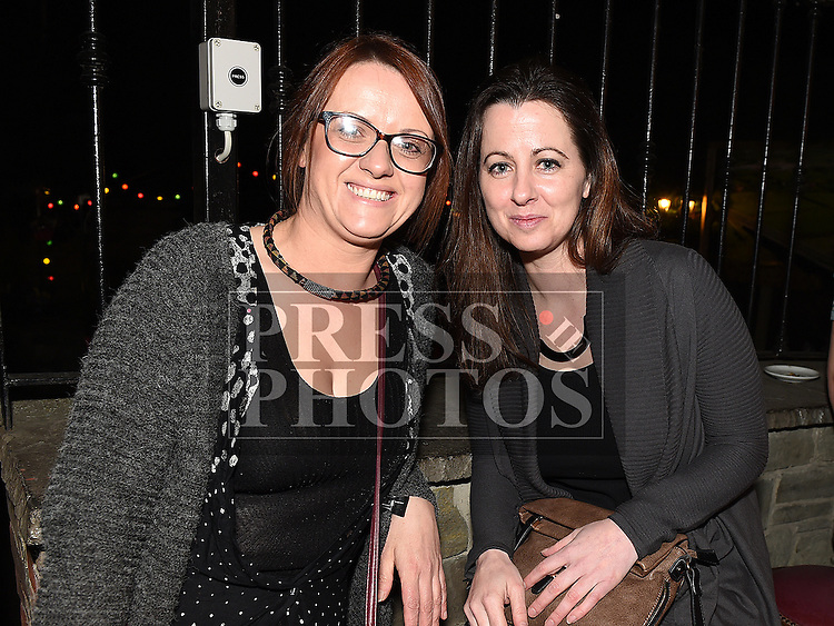 Niamh Kearney and Kelly Behan at the Cachimbo gig in Sarsfields. Photo:Colin Bell/pressphotos.ie