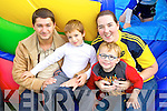Michael Jones, Isaac Jone Lopez, Marie Finnegan and Michael Finnegan pictured at the Tralee Rugby Club fun day on Sunday.