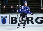 Uppsala 2013-11-13 Bandy Elitserien IK Sirius - IFK Kung&auml;lv :  <br /> Sirius Klas Nordstr&ouml;m jublar efter att ha gjort 4-3 i den andra halvleken<br /> (Foto: Kenta J&ouml;nsson) Nyckelord:  jubel gl&auml;dje lycka glad happy