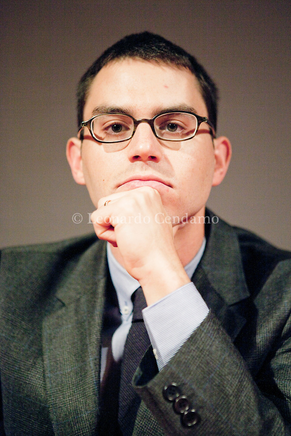 Joshua Foer, american writer,(born Sept. 23, 1982) is a freelance journalist living in New Haven, Connecticut, USA. venezia, gennaio 2012.  © Leonardo Cendamo