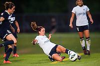 Seattle Reign FC defender Lauren Barnes (3). Sky Blue FC defeated the Seattle Reign FC 2-0 during a National Women's Soccer League (NWSL) match at Yurcak Field in Piscataway, NJ, on May 11, 2013.