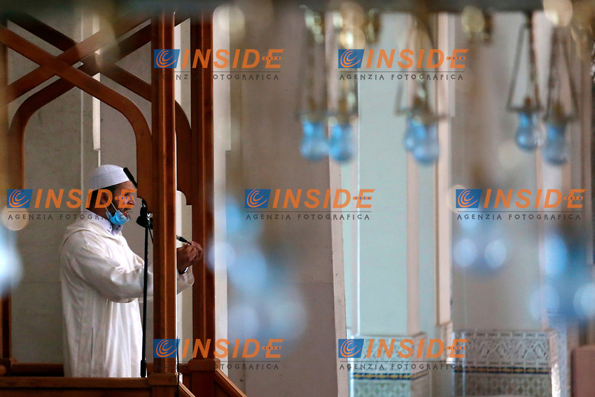 The Imam of the Big Mosque of Rome for the reopening and the first prayer. Rome (Italy), June 26th 2020<br /> Foto Samantha Zucchi Insidefoto
