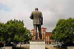A statue of Dr. Martin Luther King, Jr. in Kelly Ingram Park in downtown Birmingham August 13, 2013. Dr. King directed protests in the park in 1963. The park has several art installations that coincide with the Birmingham Civil Rights Institute and the 16th Street Baptist Church (seen in the background), which sit across the street.