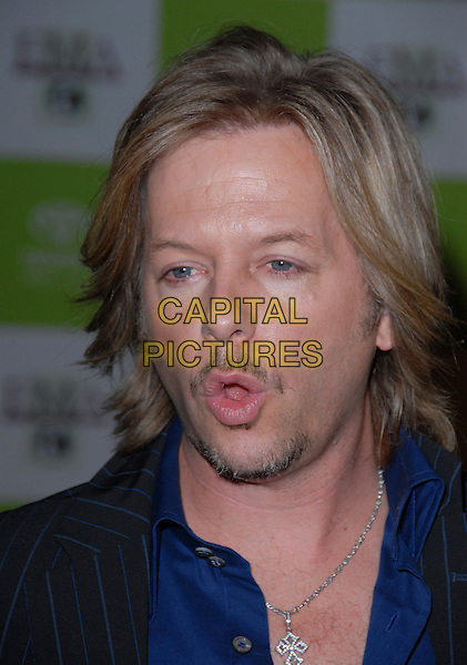 DAVID SPADE.16th Annual Environmental Media Association Awards Gala held at the Wilshire Ebell Theatre,Los Angeles, California, USA..November 8th, 2006.Ref: ADM/CH.headshot portrait mouth open funny face goatee mustache facial hair.www.capitalpictures.com.sales@capitalpictures.com.©AdMedia/Capital Pictures. *** Local Caption *** ..