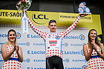 Tim Wellens (BEL) Lotto-Soudal retains the mountains Polka Dot Jersey at the end of Stage 6 of the 2019 Tour de France running 160.5km from Mulhouse to La Planche des Belles Filles, France. 11th July 2019.<br /> Picture: ASO/Pauline Ballet | Cyclefile<br /> All photos usage must carry mandatory copyright credit (© Cyclefile | ASO/Pauline Ballet)