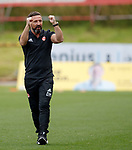 Aberdeen manager Derek McInnes punches the air at full time