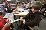 Connor Rutledge, 10, makes a sabre during the Star Wars Day celebration at the Carson City Library in Carson City, Nev. on Wednesday, May 4, 2016.<br />