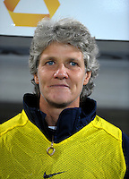 Head Coach Pia Sundhage. US Women's National Team vs Germany at Impuls Arena in Augsburg, Germany on October 27, 2009.