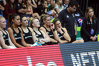 13.10.2013 Silver Fern in action during the Silver Ferns V Australian Diamonds Netball Series played at the AIS Arena in Canberra Australia. Mandatory Photo Credit ©Michael Bradley.