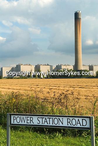 Isle of Grain E.On Power Station Kent England. Power Station Road.