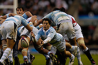Twickenham. GREAT BRITAIN, Pumas, Agustini PICHOT, passes the ball back from the base of the scrum, during the, 2006 Investec Challenge, game between, England  and Argentina, on Sat., 11/11/2006, played at the Twickenham Stadium, England. Photo, Peter Spurrier/Intersport-images].....