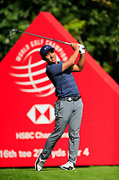 C.T. Pan (TPE) on the 16th tee during the 3rd round at the WGC HSBC Champions 2018, Sheshan Golf CLub, Shanghai, China. 27/10/2018.<br /> Picture Fran Caffrey / Golffile.ie<br /> <br /> All photo usage must carry mandatory copyright credit (&copy; Golffile | Fran Caffrey)