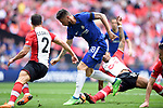 Olivier Giroud of Chelsea goes round the Southampton defence to score the opening goal of the game during the FA cup semi-final match at Wembley Stadium, London. Picture date 22nd April, 2018. Picture credit should read: Robin Parker/Sportimage