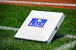 "4 July 2009: Special ALS Bases are used for all MLB games this day. Major League Baseball is initiating a new charitable campaign called 4 ALS Awareness to combat Amyotrophic Lateral Sclerosis (ALS), otherwise known as ""Lou Gehrig's Disease. The Washington Nationals   host the Atlanta Braves at Nationals Park in Washington, DC. The Nationals rallied to defeat the Braves 5-3 to take the second game and tie the 3-game weekend series. Mandatory Credit: Ed Wolfstein Photo"