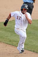 Phoenix Desert Dogs second baseman Cody Puckett #22 during an Arizona Fall League game against the Salt River Rafters at Phoenix Municipal Stadium on November 1, 2011 in Phoenix, Arizona.  Salt River defeated Phoenix 10-7.  (Mike Janes/Four Seam Images)