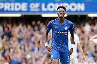 GOAL - Tammy Abraham of Chelsea scores during the Premier League match between Chelsea and Sheff United at Stamford Bridge, London, England on 31 August 2019. Photo by Carlton Myrie / PRiME Media Images.