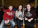 James and Sarah Luckie and Niamh Osborne at the Dunleer S Factor the Grove Hotel. Photo:Colin Bell/pressphotos.ie