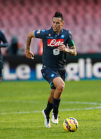 Marek Hamsik   in action during the Italian Serie A soccer match between   SSC Napoli and Empolii    at San Paolo   stadium in Naples , December 07, 2014