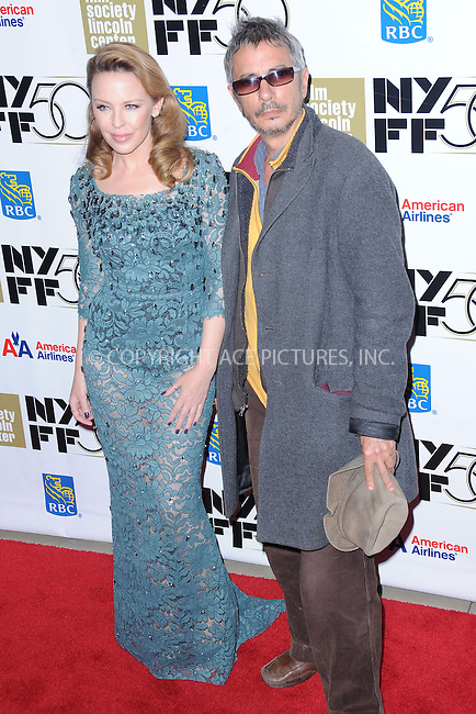 WWW.ACEPIXS.COM . . . . . .October 11, 2012...New York City....Kylie Minogue and Leos Carax attend the 'Holy Motors' Premiere During The 50th New York Film Festival at Alice Tully Hall on October 11, 2012 in New York City ....Please byline: KRISTIN CALLAHAN - ACEPIXS.COM.. . . . . . ..Ace Pictures, Inc: ..tel: (212) 243 8787 or (646) 769 0430..e-mail: info@acepixs.com..web: http://www.acepixs.com .
