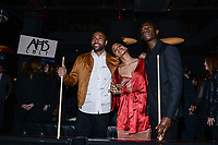 NEW YORK CITY - MARCH 15: Jeremie Harris, Zazie Beetz and Damson Idris attend FX Networks 2018 Annual All-Star Bowling Party at Lucky Strike Manhattan on March 15, 2018 in New York City. (Photo by Anthony Behar/FX/PictureGroup)