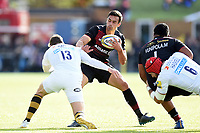 Alex Lozowski of Saracens in possession. Aviva Premiership match, between Saracens and Wasps on October 8, 2017 at Allianz Park in London, England. Photo by: Patrick Khachfe / JMP