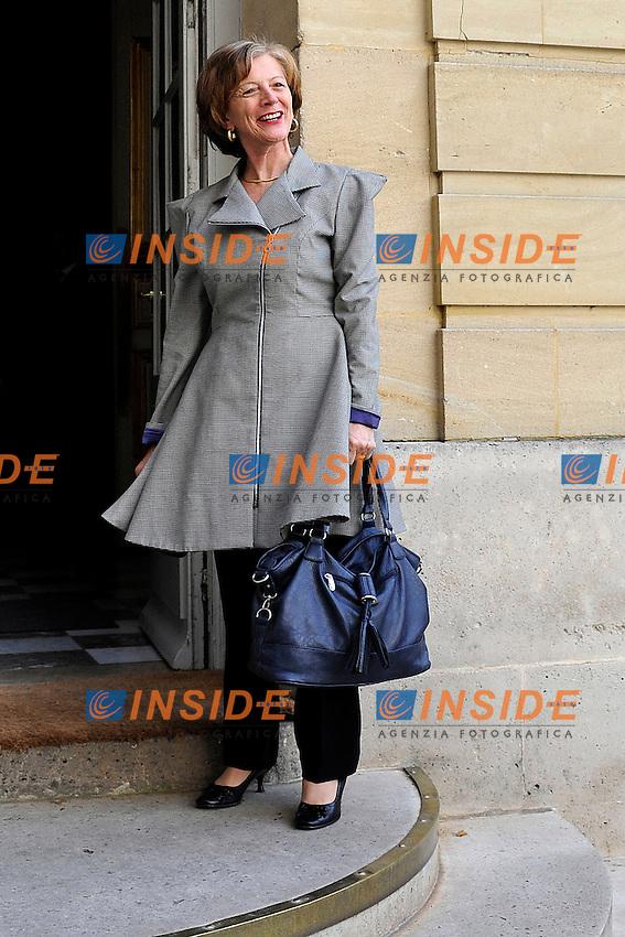 Brigitte Ayrault .Parigi 17/06/2012 Meeting a Matignon per le elezioni legislative .Foto Insidefoto /Gerard Roussel / Panoramic.ITALY ONLY.