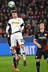 10.03.2018, BayArena, Leverkusen , GER, 1.FBL., Bayer 04 Leverkusen vs. Borussia Moenchengladbach<br /> im Bild / picture shows: <br /> Kopfball durch Nico Elvedi (Gladbach #30),  <br /> <br /> <br /> Foto &copy; nordphoto / Meuter
