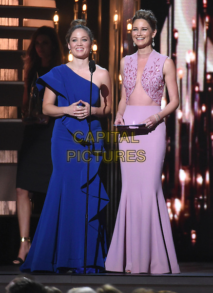 04 November 2015 - Nashville, Tennessee - Erika Christensen, Jennifer Nettles. 49th Annual CMA Awards, CMA Awards 2015, Country Music's Biggest Night, held at Bridgestone Arena. Photo Credit: AdMedia<br /> CAP/ADM/LF<br /> &copy;LF/ADM/Capital Pictures