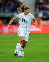 Tobin Heath of team USA during the FIFA Women's World Cup at the FIFA Stadium in Sinsheim, Germany on July 2nd, 2011.
