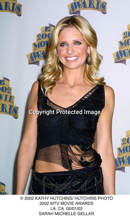 © 2002 KATHY HUTCHINS/ HUTCHINS PHOTO.2002 MTV MOVIE AWARDS.LA, CA  06/01/02.SARAH MICHELLE GELLAR