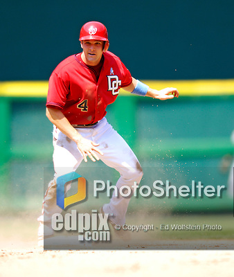 18 June 2006: Brendan Harris, infielder for the Washington Nationals, in action against the New York Yankees at RFK Stadium, in Washington, DC. The Nationals defeated the Yankees 3-2 in the third game of the interleague series...Mandatory Photo Credit: Ed Wolfstein Photo...