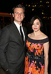 Jonathan Groff and Rose McGowan attends The Creative Coalition's Annual  Celebration of Arts & America at STK DC on May 2, 2014 in Washington, D.C.