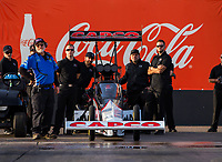 Feb 2, 2017; Chandler, AZ, USA; Crew members with NHRA top fuel driver Steve Torrence during Nitro Spring Training preseason testing at Wild Horse Pass Motorsports Park. Mandatory Credit: Mark J. Rebilas-USA TODAY Sports