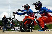 ASSEN - Wielersport, NK BMX, Stadsbroek,  02-07-2017,  Elite heren Niek Kimmann (l)  en Dave van der Burg (r)