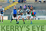 Thomas Moriarty Legion plays advantage to take on Donal Maher  Kilcummin during their SFC game in Lewis Road  Killarney Saturday evening
