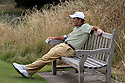 SOUTHPORT, ENGLAND - JULY 26:  David Frost of South Africa itakes a rest on the 12th tee during the second round of The Senior Open Championship played at Royal Birkdale Golf Club on July 26, 2013 in Southport, United Kingdom.  (Photo by Phil Inglis/Getty Images)