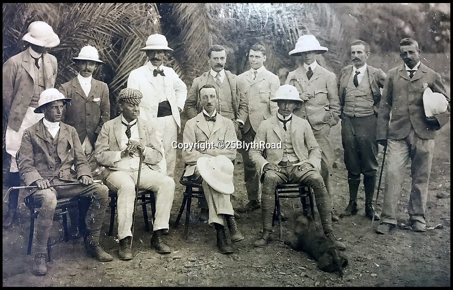 BNPS.co.uk (01202 558833)Pic: 25BlythRoad/BNPS<br /> <br /> The Britsh engineers who planned the huge construction.<br /> <br /> An unseen album of pictures reveal the epic construction work on the first Nile dam at Aswan  in 1900.<br /> <br /> Built by British engineers with a workforce of thousands not seen in Egypt since the time of the Pharaohs. The scheme was the largest construction project in the world at the time.<br /> <br /> It's aim was to control the notorious waters of the mighty Nile river by storing the annual flood and releasing the waters over time.