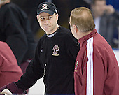 Mike Cavanaugh (Jim Logue) - The Boston College Eagles took their morning skate on Saturday, April 8, 2006, at the Bradley Center in Milwaukee, Wisconsin to prepare for the 2006 Frozen Four Final game versus the University of Wisconsin.