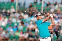 Justin Rose (ENG) tees off on the 17th hole during the third round of the 118th U.S. Open Championship at Shinnecock Hills Golf Club in Southampton, NY, USA. 16th June 2018.<br /> Picture: Golffile | Brian Spurlock<br /> <br /> <br /> All photo usage must carry mandatory copyright credit (&copy; Golffile | Brian Spurlock)
