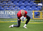 Sheffield United's Aaron Ramsdale warms up during the League One match at the Kingsmeadow Stadium, London. Picture date: September 10th, 2016. Pic David Klein/Sportimage
