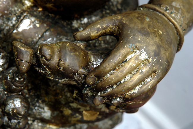 Hands of statue