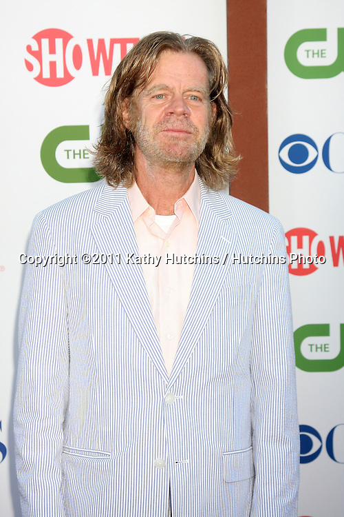 LOS ANGELES - AUG 3:  William H Macy arriving at the CBS TCA Summer 2011 All Star Party at Robinson May Parking Garage on August 3, 2011 in Beverly Hills, CA