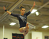 Renee Vulin of Plainview JFK performs on the balance beam during the Nassau County varsity gymnastics individual championships and state qualifiers at Hicksville High School on Tuesday, Feb. 9, 2016.